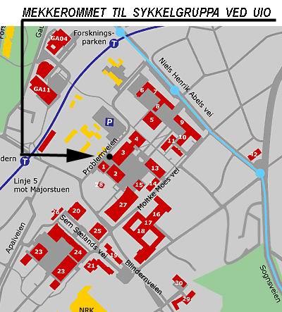 universitetet i oslo kart Mekking i Trøfoen   Bedriftsidrettslaget ved UiO universitetet i oslo kart