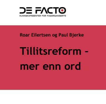 Forsidebildeav DeFacto-rapporten. DeFacto-logo øverst.