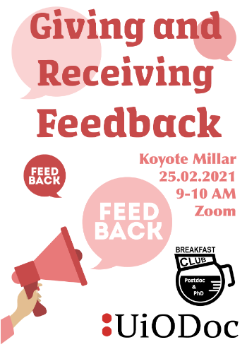 Poster that summerizes the PPBC event details on giving and receiving feedback.