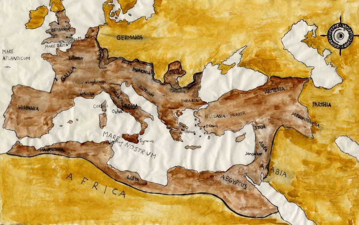 romerriket kart Historisk bakgrunn   URL romerriket kart